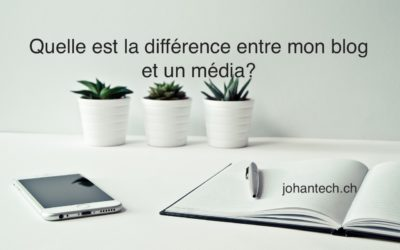 Quel est la différence entre ce blog et un média?
