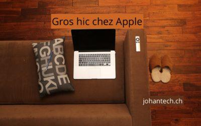Gros hic chez Apple…